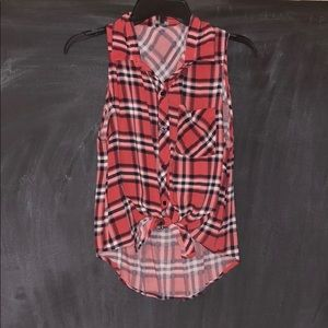 Charlotte Russe flannel tank top